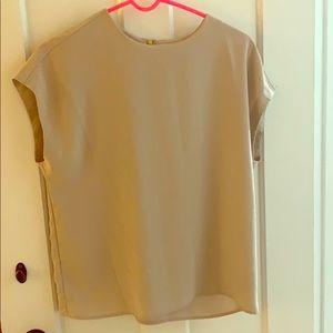 Blush pink work blouse